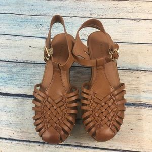 BareTrap Tan heeled sandals